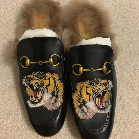 Gucci Slide,ons with Tiger Print for Men\u2019s NWT